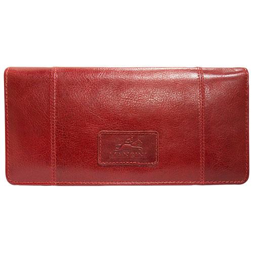 Portefeuille RFID à trois volets en cuir Casablanca de Mancini - Rouge