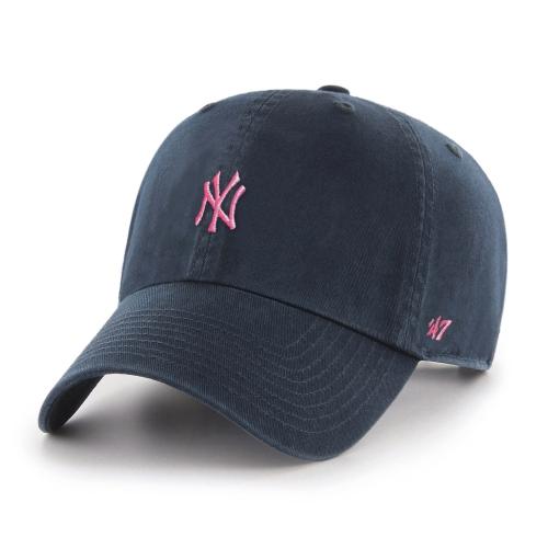 Ladies  New York Yankees MLB Minimalist Pink Logo Cap   Hats - Best ... 94cfb8026