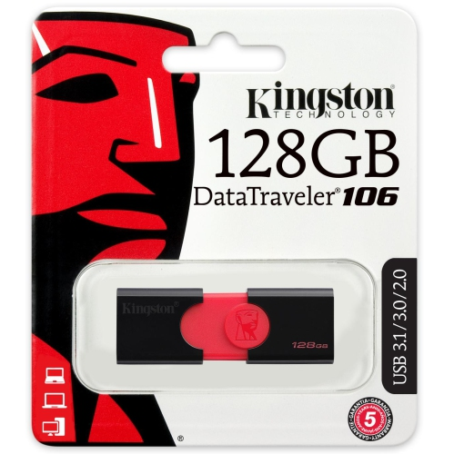 Kingston DT106 USB 3.1 DataTraveler 128GB Memory Stick