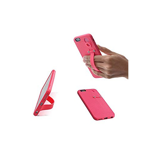 new products f75cc 0cef3 TFY Hand Strap Holder Stand with Soft Case Cover for iPhone 6 (S) (Pink)