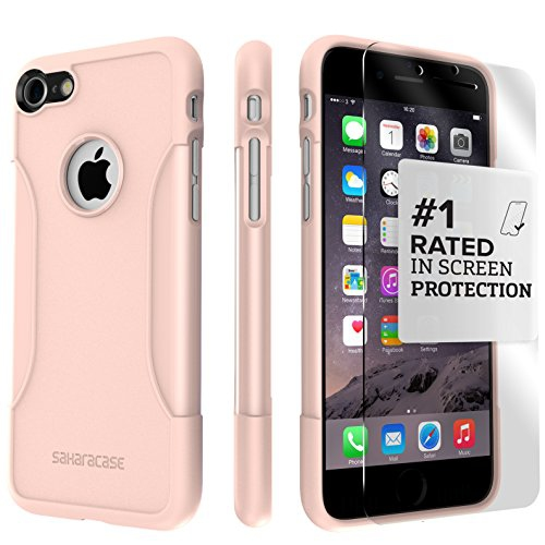 new product 7ef2d 6f6e5 iPhone 8 Case and 7 Case SaharaCase Protective Kit Bundle with [ZeroDamage  Tempered Glass Screen Protector] Rugged Protection