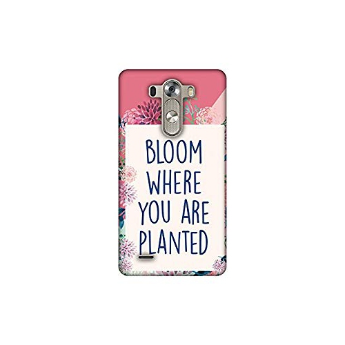 newest 1d231 6cbba AMZER Slim Handcrafted Designer Printed Hard Shell Case Back Cover for LG  G3 - Bloom Where You are