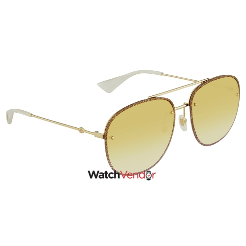 0637757c85 Gucci Yellow Gradient Oval Ladies Sunglasses GG0227S 005 62   Sunglasses -  Best Buy Canada