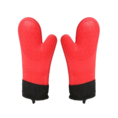 Heat Resistant Silicone Mitts - Red Colour