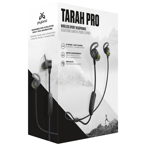 6cf9b9ab237 Jaybird Tarah Pro In-Ear Sound Isolating Bluetooth Headphones with Mic -  Black/Flash | Best Buy Canada