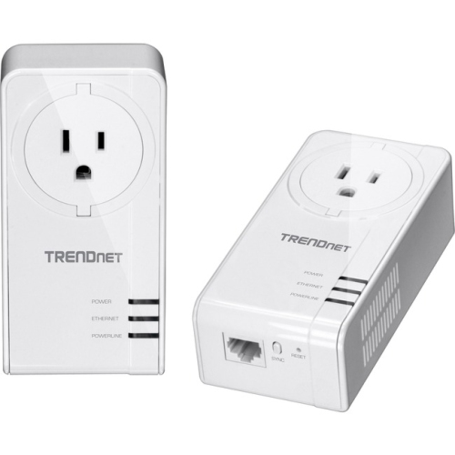 Model TPL-423E2K, comes with two Powerline adapters to create a high-speed Power