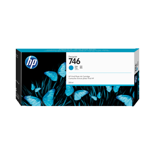 HP 746 Cyan 300-ml Genuine Ink Cartridge for DesignJet Z6 & Z9+ Large Format Printers