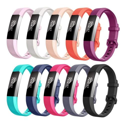 les clients d'abord la qualité d'abord ramasser Fitbit Alta Replacement Band Small /Fitbit Alta HR Strap Bracelets W/ Same  Color Metal Clasp and Fastener (10Pack)