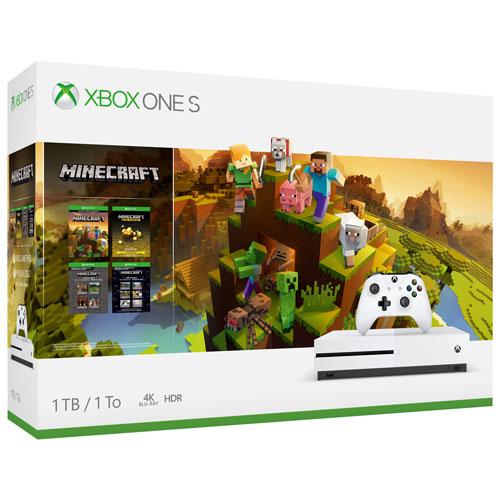Ensemble Xbox One S 1 To avec Minecraft Creators