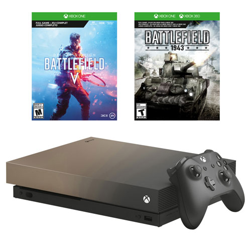 Xbox One X 1TB Battlefield V Gold Rush Bundle - Only at Best Buy