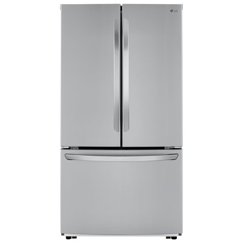 """LG 36"""" 22.8 Cu. Ft. Counter-Depth French Door Refrigerator - Stainless Steel"""