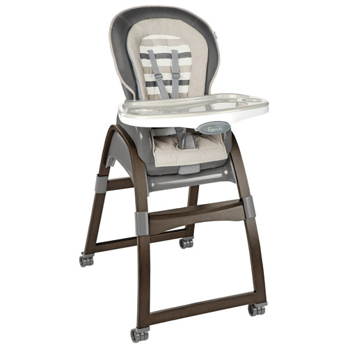 Ingenuity Trio 3 In 1 Wood High Chair With Easyclean Tray Grey