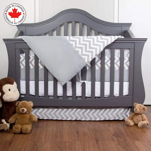 Bebelelo baby crib bedding 7 piece zigzag set