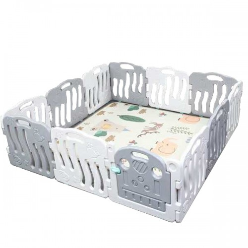 All You Need Baby Playpen Panel Activity Center Safety Fence Playyard(Grey/White)