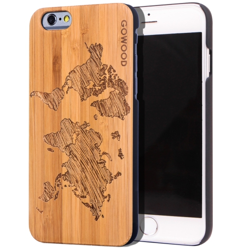 World Map Iphone 6s Case.Iphone 6 6s Wood Case Real Bamboo World Map Design Engraved