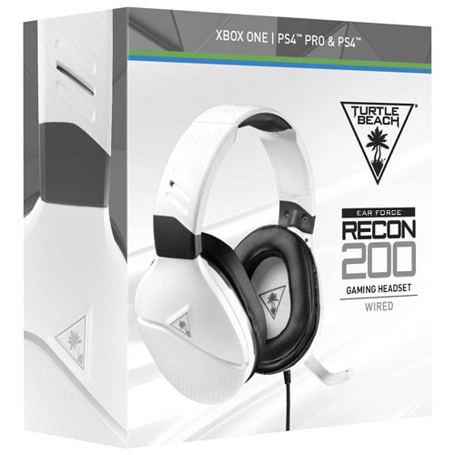 Turtle Beach Recon 200 Gaming Headset with Microphone (TBS-3220-02) - White