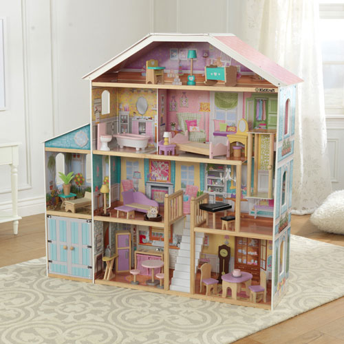 kidkraft grand view mansion dollhouse dolls dollhouses best buy canada. Black Bedroom Furniture Sets. Home Design Ideas