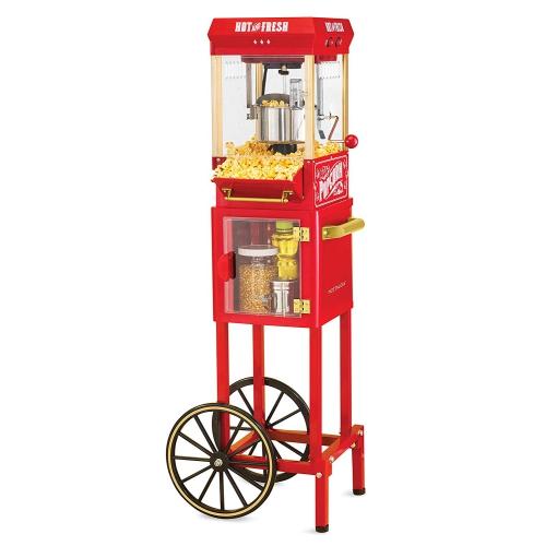 Nostalgia KPM200CART Chariot à Popcorn Bouilloire de 10 Tasses, 45 Tasses