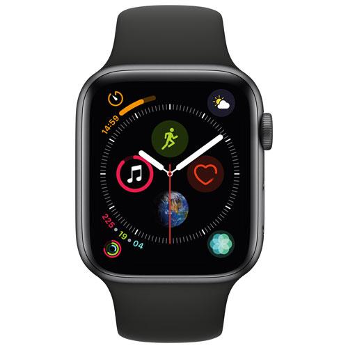 Apple Watch Series 4 Gps 44mm Space Grey Aluminium Case With Black
