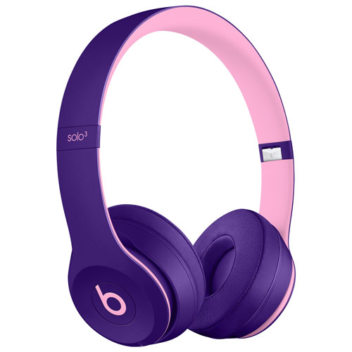 Beats by Dr. Dre Solo3 On-Ear Sound Isolating Bluetooth Headphones - Pop Violet