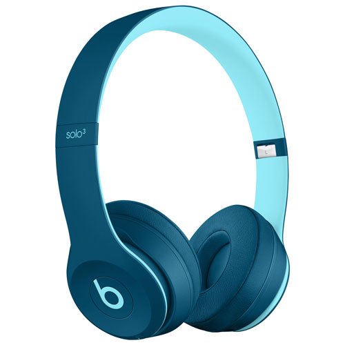 Beats by Dr. Dre Solo3 On-Ear Sound Isolating Bluetooth Headphones - Pop Blue