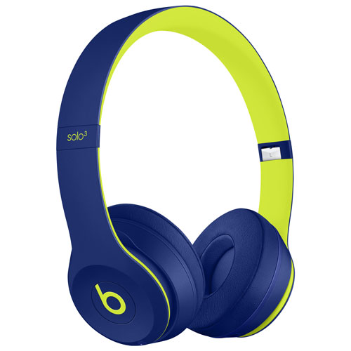 Beats by Dr. Dre Solo3 On-Ear Sound Isolating Bluetooth Headphones - Pop Indigo