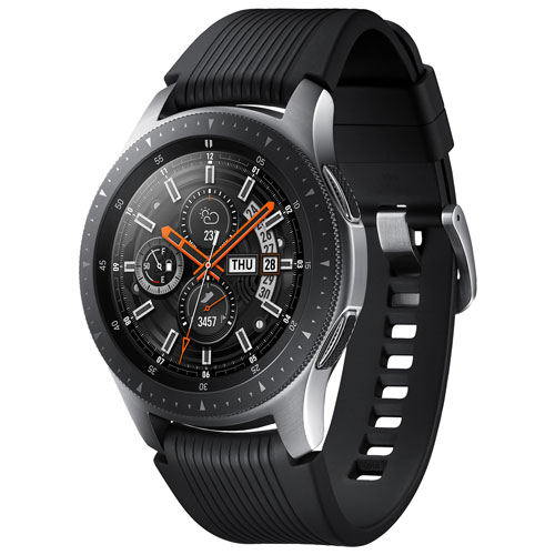 0c404666033 Samsung Galaxy Watch 46mm LTE Smartwatch with Heart Rate Monitor - Black  Silver   Smartwatches - Best Buy Canada