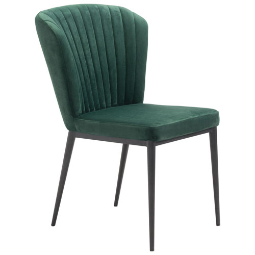 Twight Modern Fabric Dining Chair Set Of 2 Green Velvet Dining