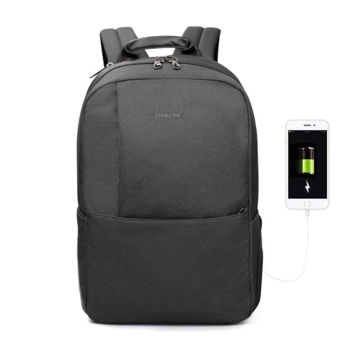 4abd8192e7 Tigernu Chargex 15.6   Laptop Backpack-Black Grey   Laptop Bags ...