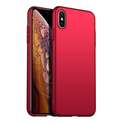 save off 7bc4c cdd09 PANDACO Hard Shell Metallic Red Case for iPhone Xs Max