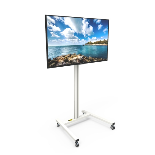 Kanto MKH40W Rolling TV Stand For 40inch To 40inch Displays White Unique Product Display Stands Canada
