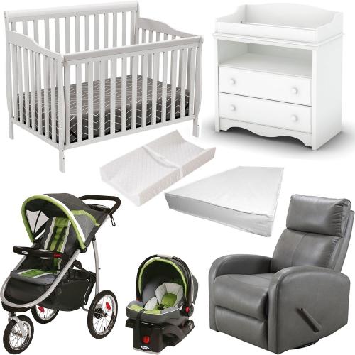 9 Piece Nursery Furniture Graco Baby Gear Set