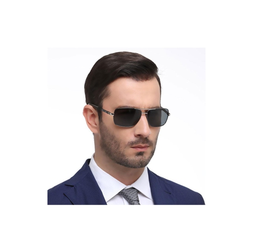 891c39a7c3 AIDIXI Fashion Men Polaroid Lens HD Polarized Sunglasses (Black Silver)    Sunglasses - Best Buy Canada