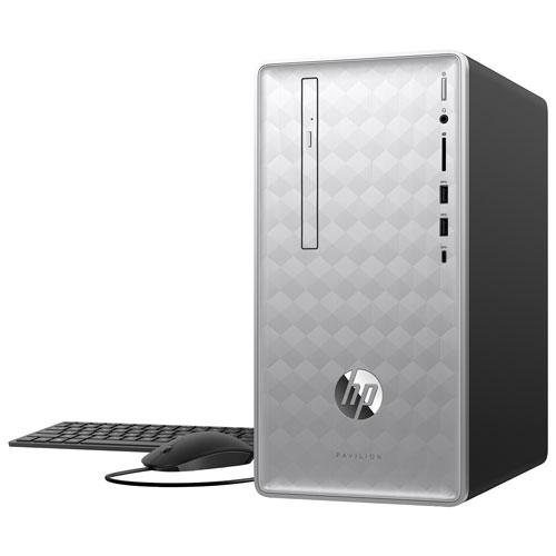HP Pavilion Desktop PC - Silver (AMD Ryzen 5 2400G/2TB HDD/8GB RAM/AMD Radeon Vega 11) - English