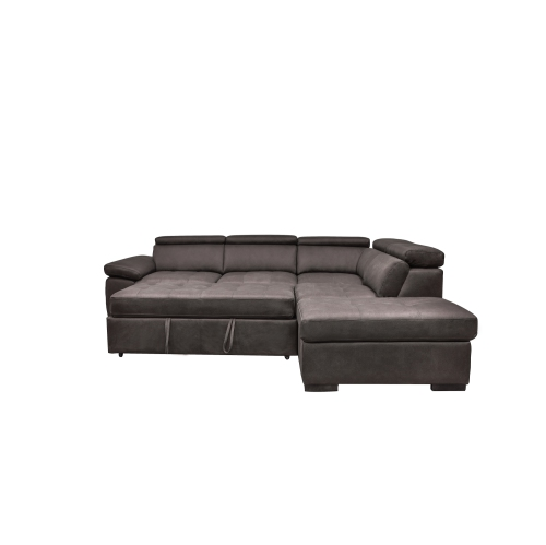 Valencia Alesund Sectional Sofa Bed with Chaise and Ottoman - Grey on divan sofa, cushions sofa, fabric sofa, pillow sofa, chair sofa, futon sofa, bedroom sofa, bookcase sofa, recliner sofa, glider sofa, ottoman sofa, table sofa, settee sofa, storage sofa, lounge sofa, bench sofa, beds sofa, mattress sofa, couch sofa, art sofa,