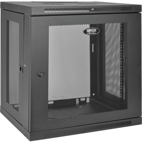 Tripp Lite 12U Wall Mount Rack Enclosure Server Cabinet w/ Door & Side Panels