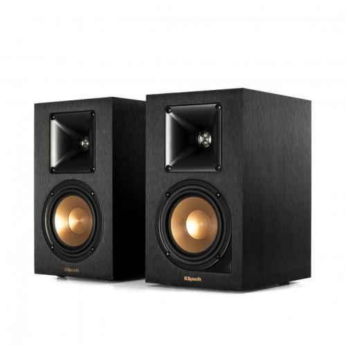 Klipsch R41PMNAB Reference 4 Inch Powered Bluetooth Bookshelf Speaker In Black Pair Portable Speakers