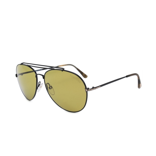 4da810df578b Tom Ford Indiana Aviator Sunglasses FT0497 01N 58   Sunglasses ...