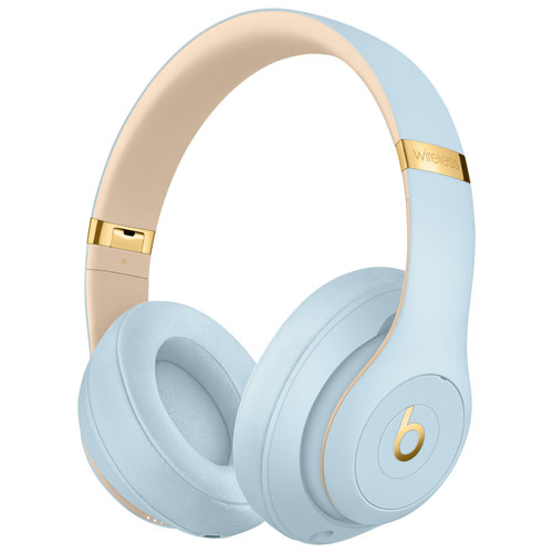 Beats by Dr. Dre Studio3 Skyline Over-Ear Noise Cancelling Bluetooth  Headphones - Crystal Blue   Over-Ear Headphones - Best Buy Canada 31bcaba20f3a