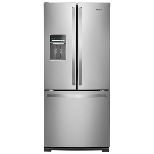 "Kitchenaid 30 19 7 Cu Ft French Door Refrigerator With: Whirlpool 30"" 19.7 Cu. Ft. French Door Refrigerator With Water Dispenser (WRF560SEHZ"
