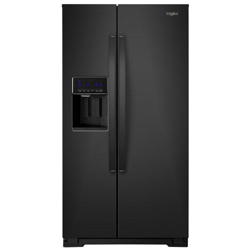 Réfrigérateur congél. juxt. prof. compt. 36 po 20,6 pi³ distrib. glace Whirlpool - Noir