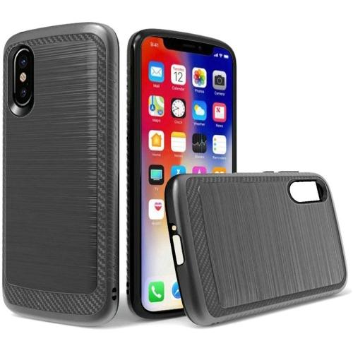 super popular cd7bb 66864 Insten For Apple iPhone XR Black Slim Hard Brushed Case