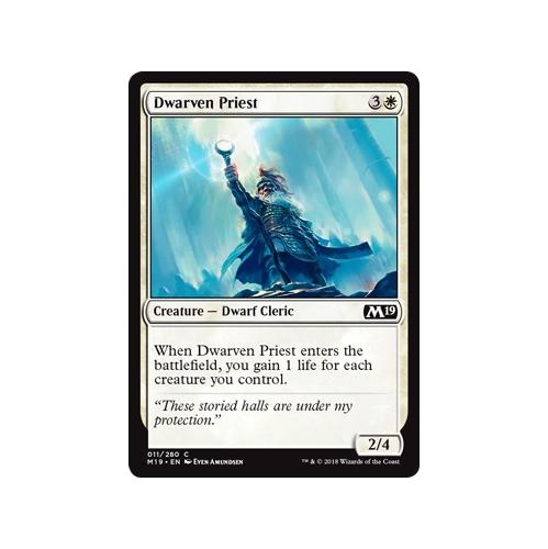 011//280 4 x Dwarven Priest Common - M19 Magic 2019 Core Set
