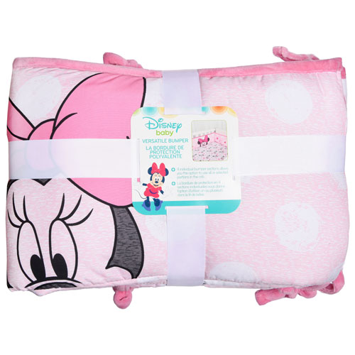 Disney Baby Minnie Mouse Polyester Crib Bumper Pink Crib Bumpers