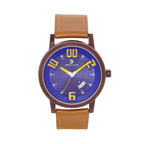 28ecb3059ea Ashton Carter Casual with Date Blue   Tan Watch - AC-1006-A   Mens Watches  - Best Buy Canada