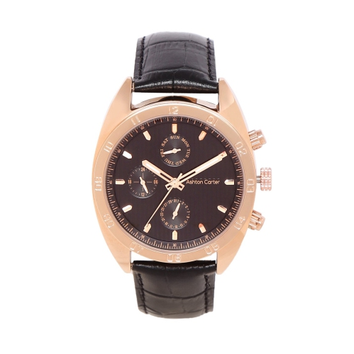 9396d21b170 Ashton Carter Multi Function Gold   Black Watch - AC-1002-A   Mens Watches  - Best Buy Canada