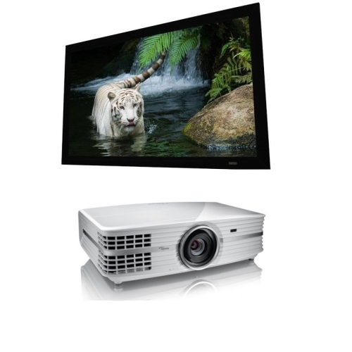 Optoma UHD60 4K DLP Projector With Elunevision Reference 4K 92 169