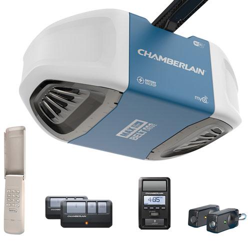 Chamberlain 1 25hp Belt Drive Smart Garage Door Opener