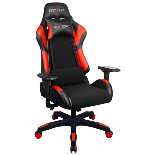 Sensational Raynor Group Vector Gaming Ergonomic Fabric Gaming Chair Red Machost Co Dining Chair Design Ideas Machostcouk