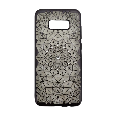 finest selection 9b630 4df47 Samsung S8 Luxury 3D Rhinestone Bling Case Soft Silicone Thin Cover Diamond  Flower Phone Case - Black